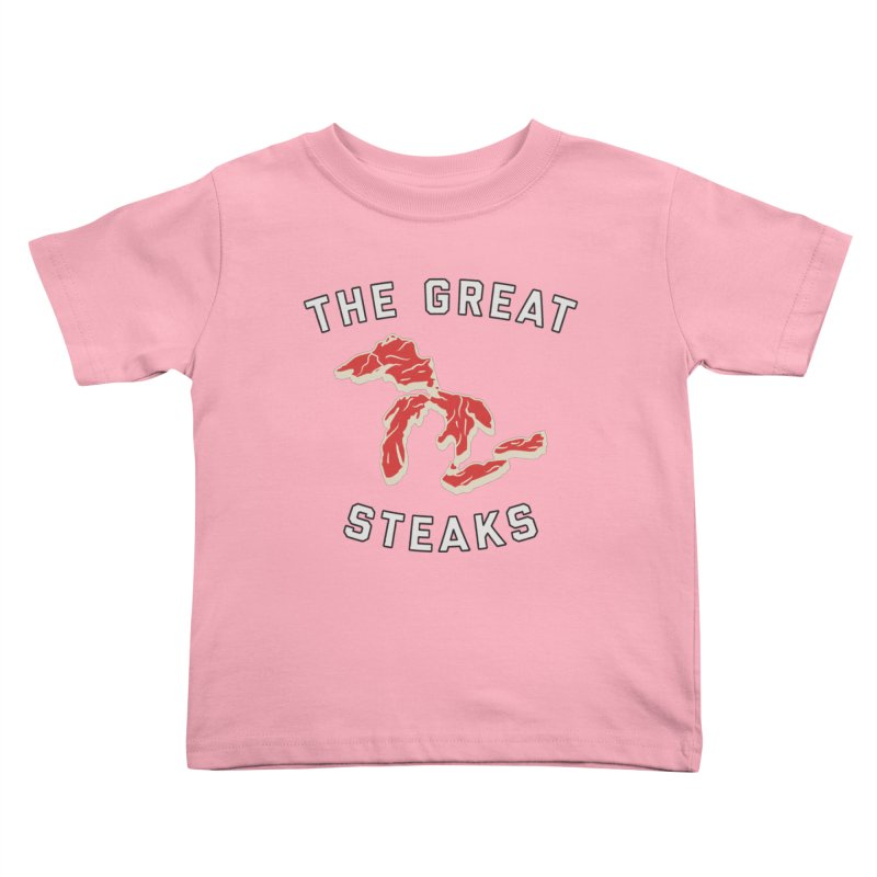 The Great Steaks Kids Toddler T-Shirt by Shop Sandusky Ink & Cloth