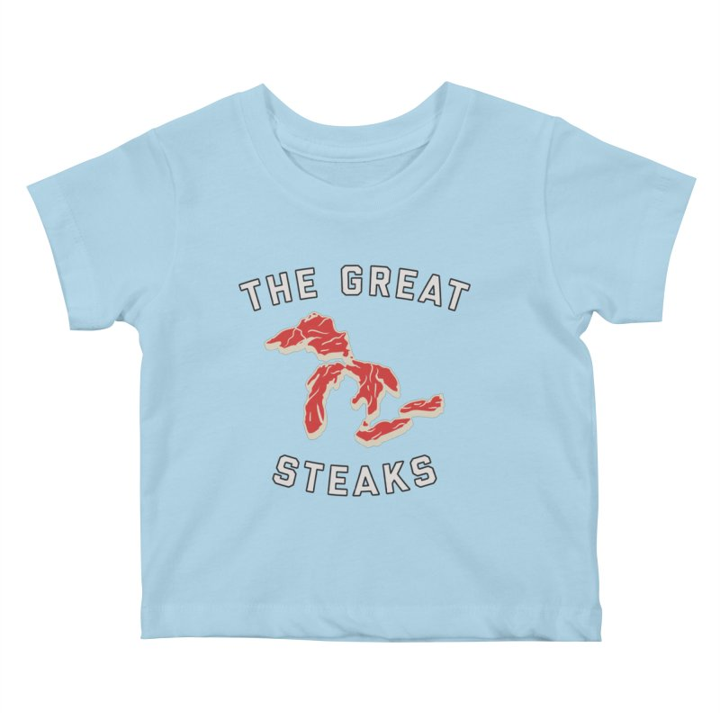 The Great Steaks Kids Baby T-Shirt by Shop Sandusky Ink & Cloth