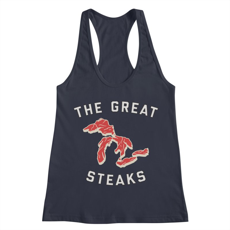 The Great Steaks Women's Racerback Tank by Shop Sandusky Ink & Cloth