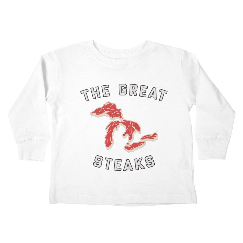 The Great Steaks Kids Toddler Longsleeve T-Shirt by Shop Sandusky Ink & Cloth