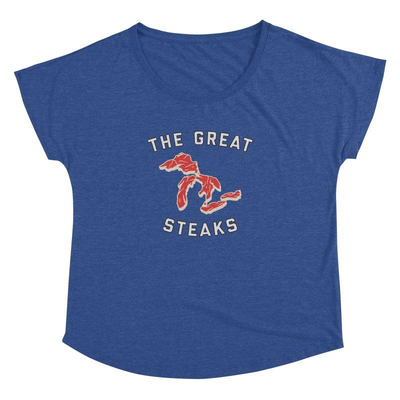 The Great Steaks Women's Dolman Scoop Neck by Shop Sandusky Ink & Cloth