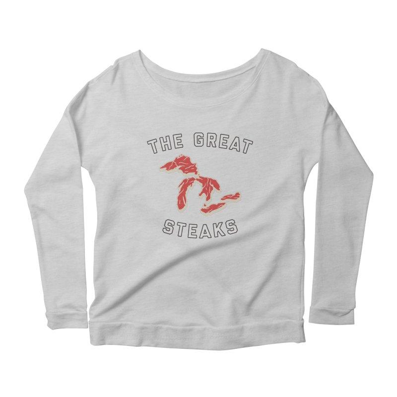 The Great Steaks Women's Scoop Neck Longsleeve T-Shirt by Shop Sandusky Ink & Cloth