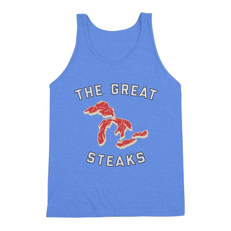 The Great Steaks Men's Triblend Tank by Shop Sandusky Ink & Cloth