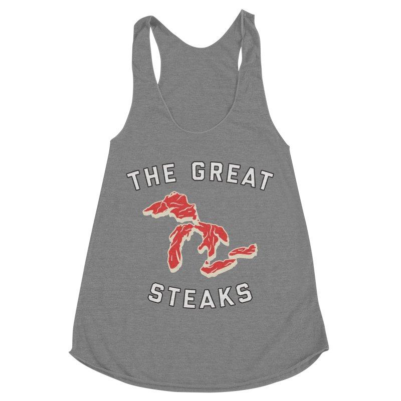 The Great Steaks Women's Racerback Triblend Tank by Shop Sandusky Ink & Cloth