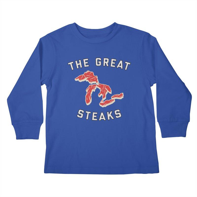 The Great Steaks Kids Longsleeve T-Shirt by Shop Sandusky Ink & Cloth