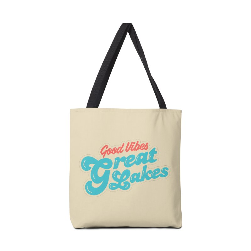 Good Vibes. Great Lakes. Accessories Tote Bag Bag by Shop Sandusky Ink & Cloth