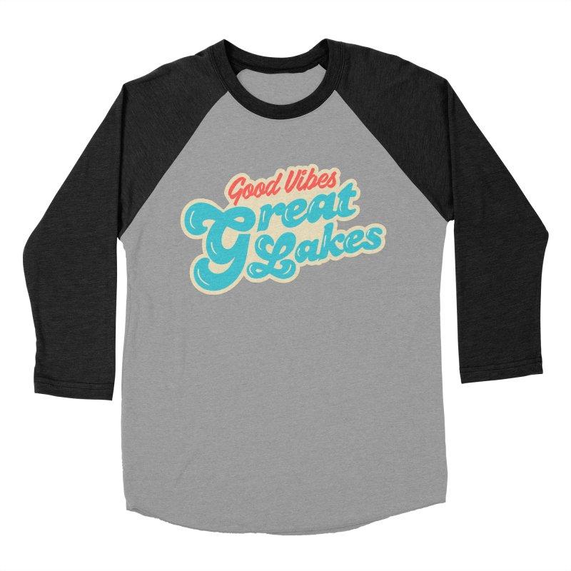 Good Vibes. Great Lakes. Women's Baseball Triblend Longsleeve T-Shirt by Shop Sandusky Ink & Cloth