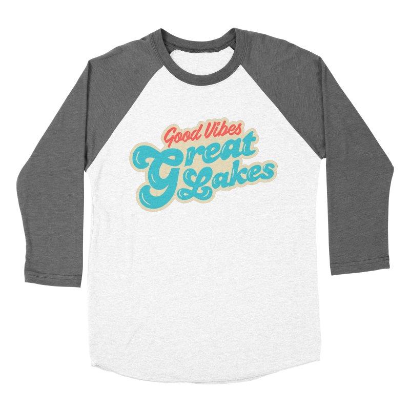 Good Vibes. Great Lakes. Men's Baseball Triblend Longsleeve T-Shirt by Shop Sandusky Ink & Cloth
