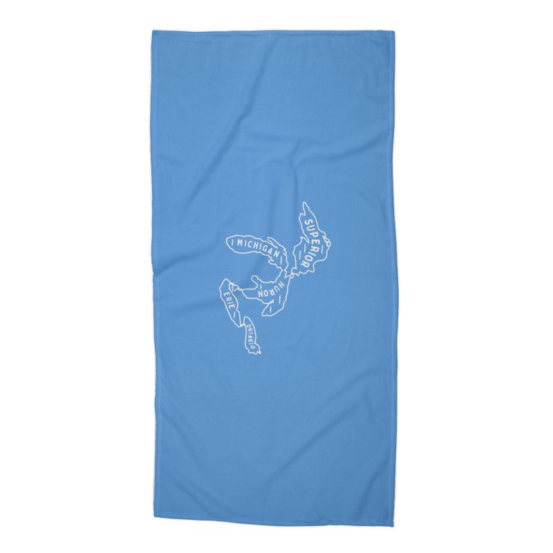 The Great Lakes Accessories Beach Towel by Shop Sandusky Ink & Cloth