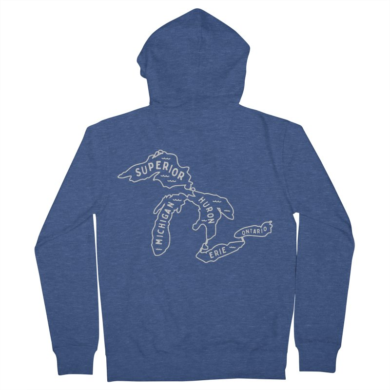 The Great Lakes Men's French Terry Zip-Up Hoody by Shop Sandusky Ink & Cloth