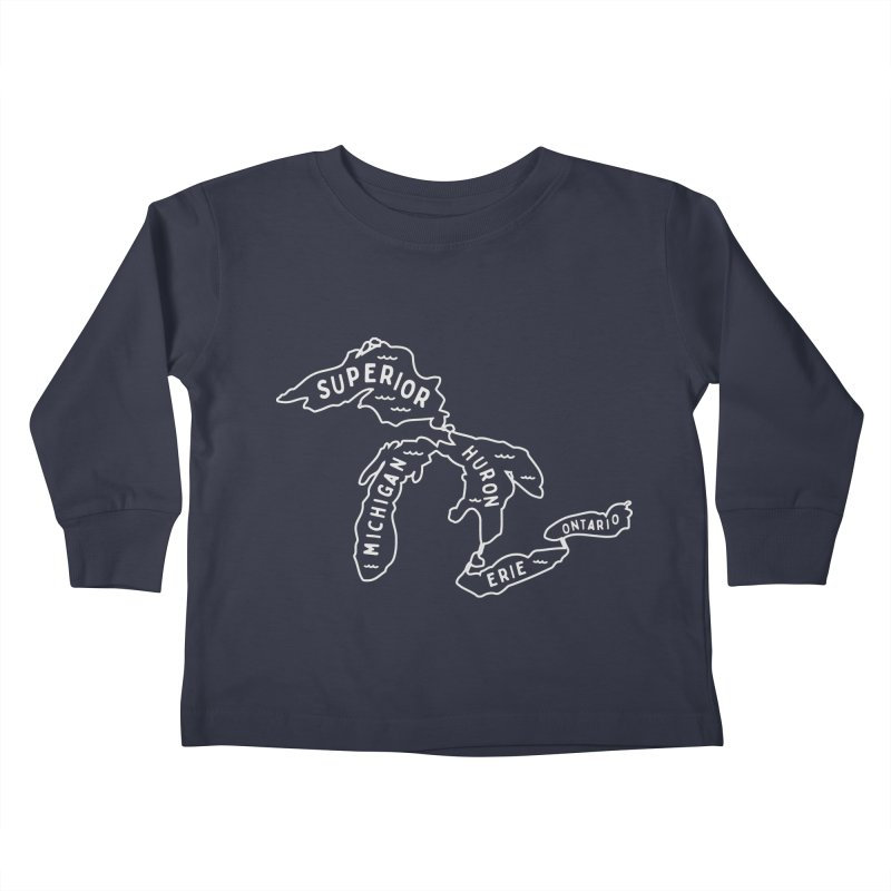 The Great Lakes Kids Toddler Longsleeve T-Shirt by Shop Sandusky Ink & Cloth