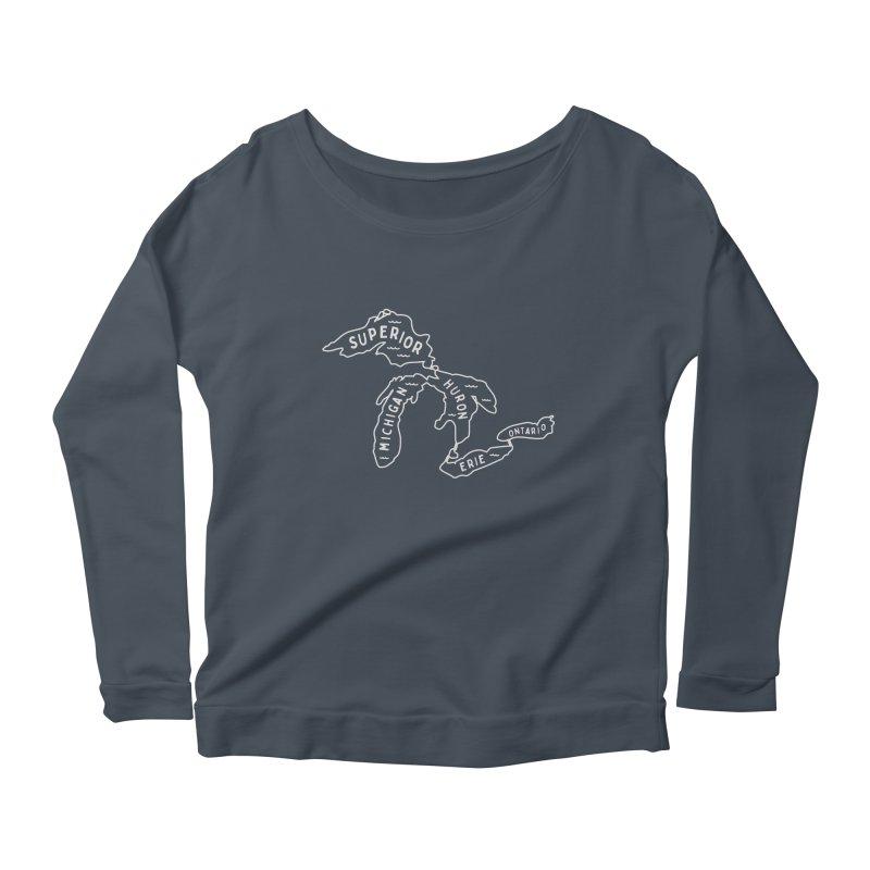The Great Lakes Women's Scoop Neck Longsleeve T-Shirt by Shop Sandusky Ink & Cloth