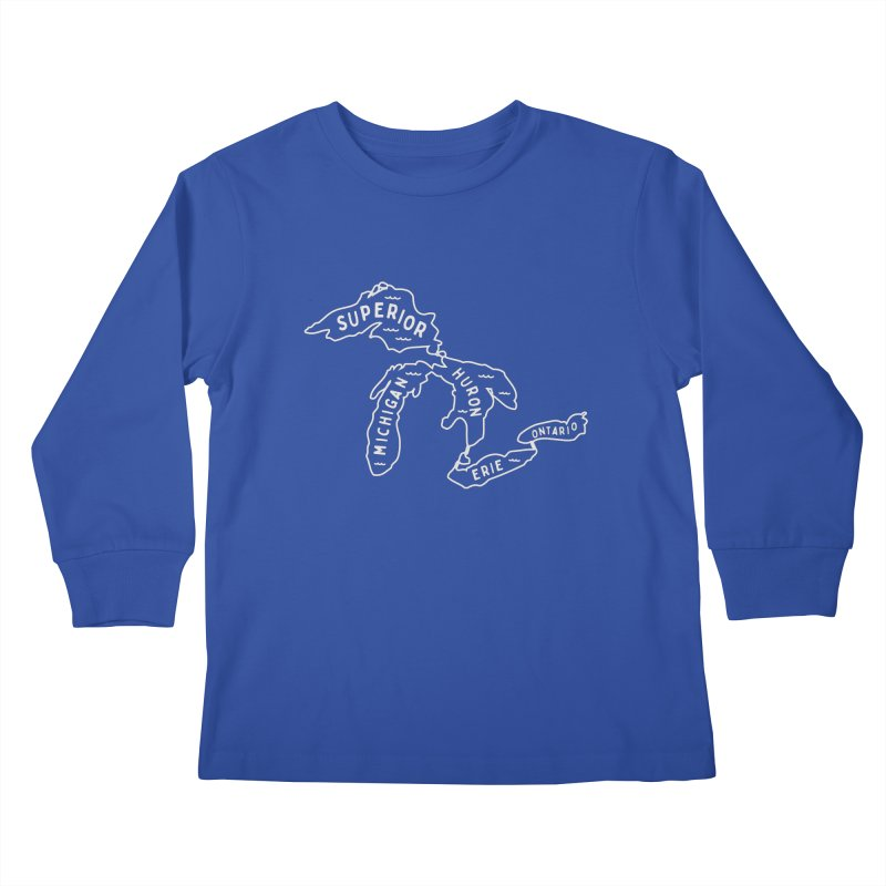 The Great Lakes Kids Longsleeve T-Shirt by Shop Sandusky Ink & Cloth