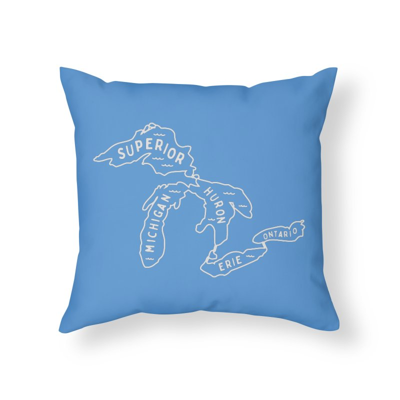 The Great Lakes in Throw Pillow by Shop Sandusky Ink & Cloth