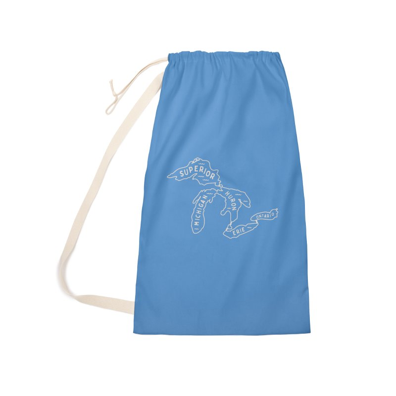 The Great Lakes Accessories Laundry Bag Bag by Shop Sandusky Ink & Cloth