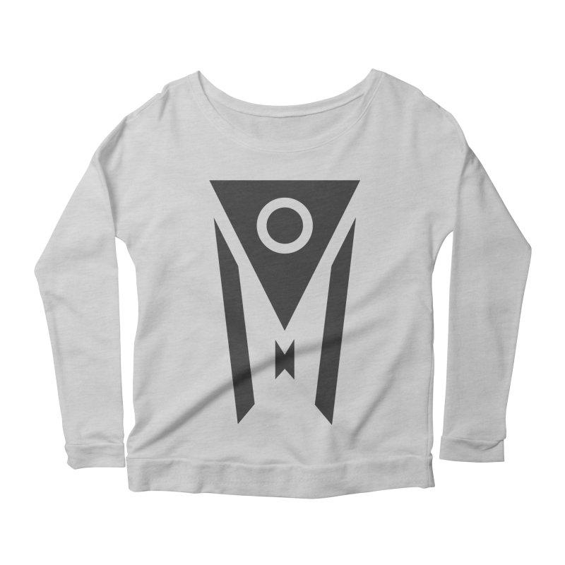 Ohio Dark Mode Women's Scoop Neck Longsleeve T-Shirt by Shop Sandusky Ink & Cloth