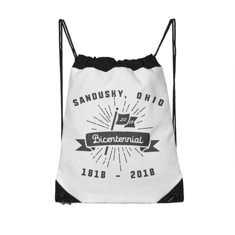 Sandusky Bicentennial Celebration Accessories Drawstring Bag Bag by Shop Sandusky Ink & Cloth