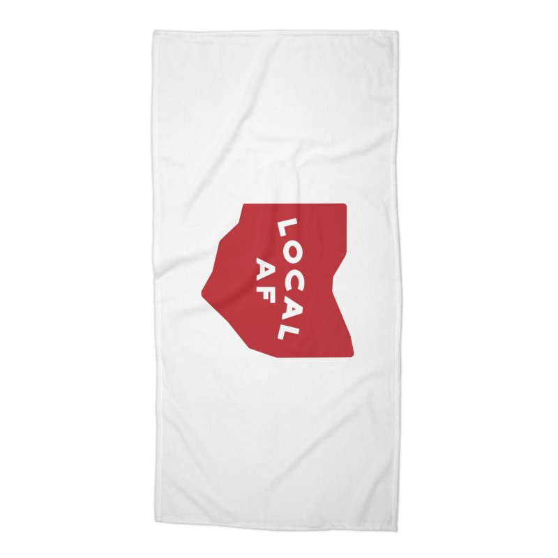 Local AF Accessories Beach Towel by Shop Sandusky Ink & Cloth