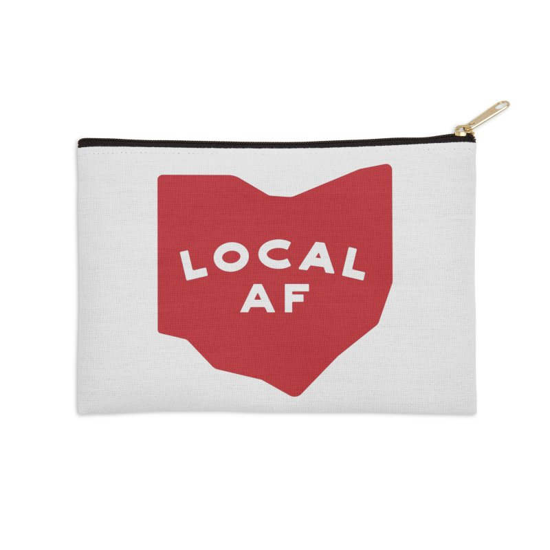 Local AF Accessories Zip Pouch by Shop Sandusky Ink & Cloth