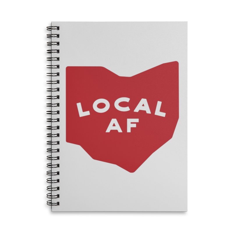 Local AF Accessories Lined Spiral Notebook by Shop Sandusky Ink & Cloth