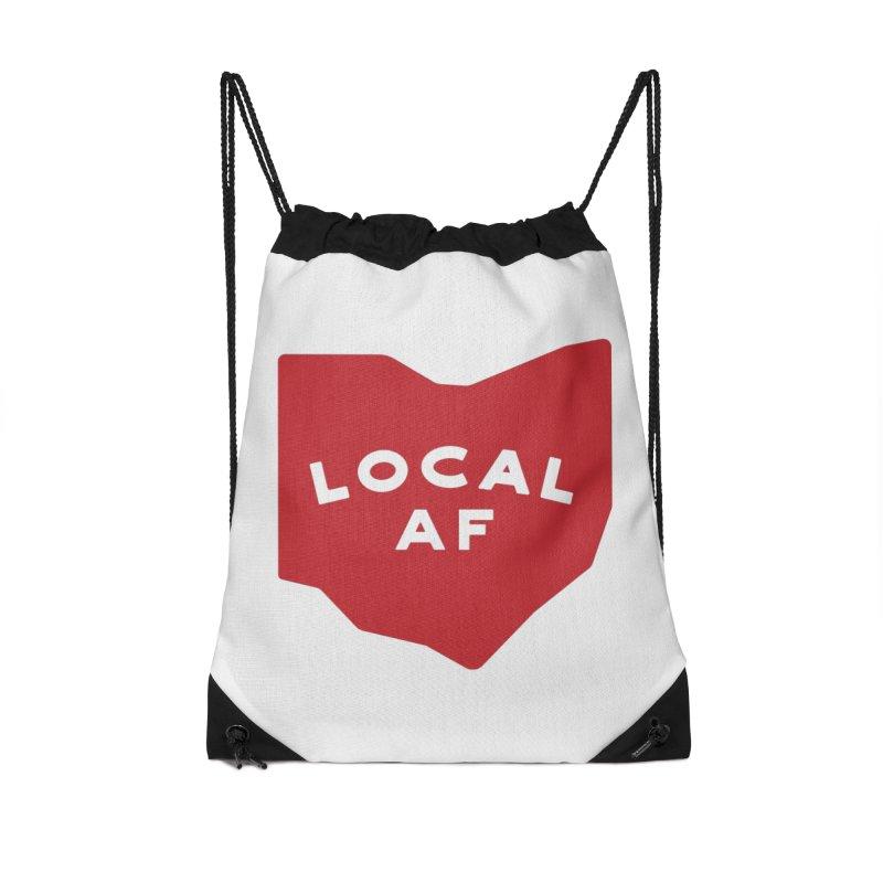 Local AF Accessories Drawstring Bag Bag by Shop Sandusky Ink & Cloth