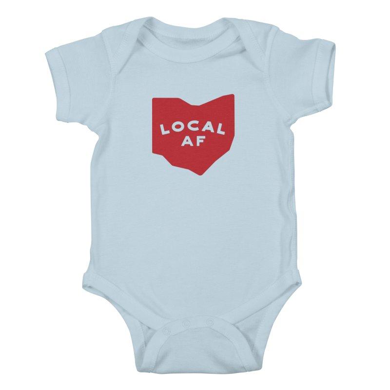 Local AF Kids Baby Bodysuit by Shop Sandusky Ink & Cloth