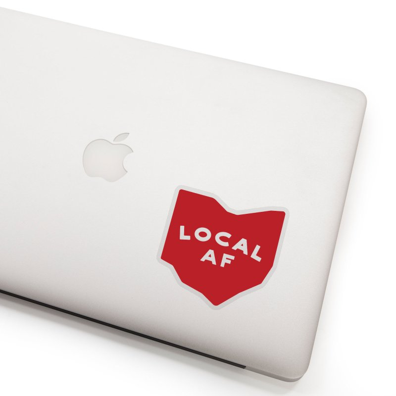 Local AF in Clear Sticker by Shop Sandusky Ink & Cloth