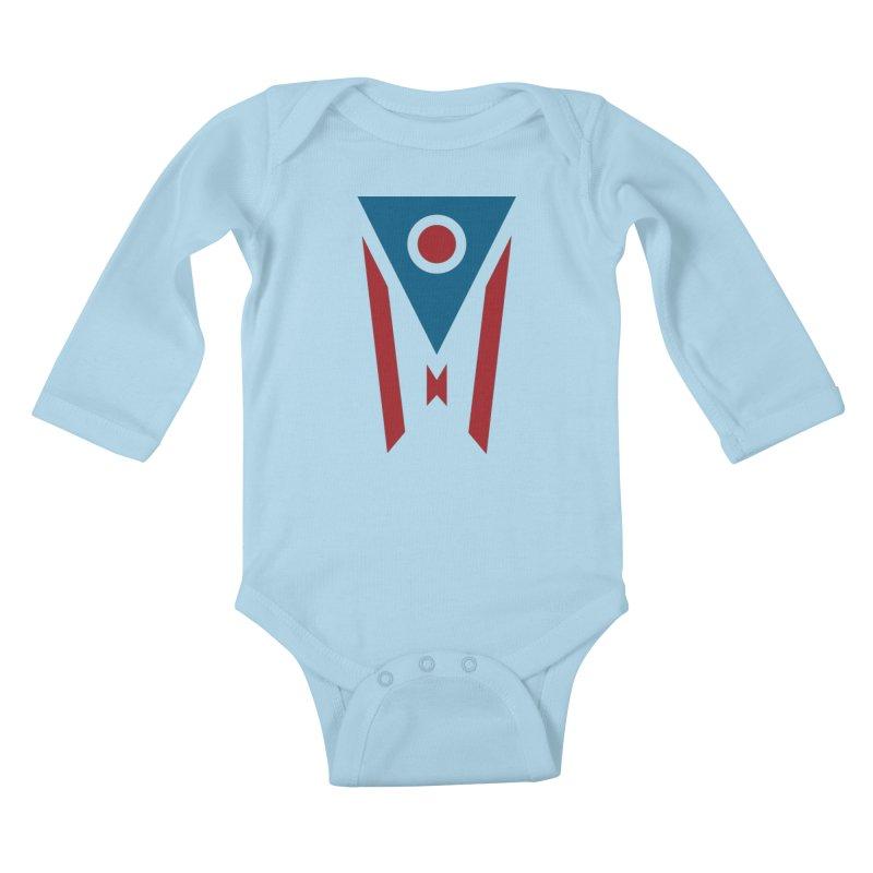 Ohio Flag Kids Baby Longsleeve Bodysuit by Shop Sandusky Ink & Cloth