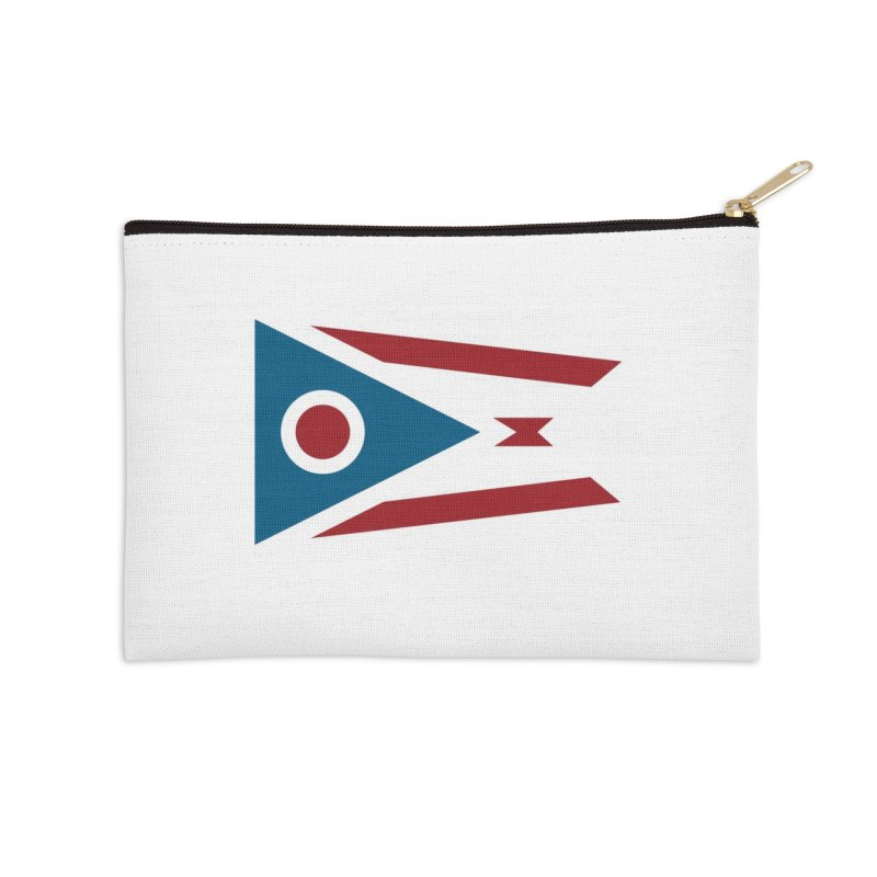 Ohio Flag Accessories Zip Pouch by Shop Sandusky Ink & Cloth