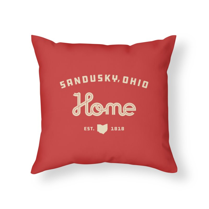 Home Home Throw Pillow by Shop Sandusky Ink & Cloth