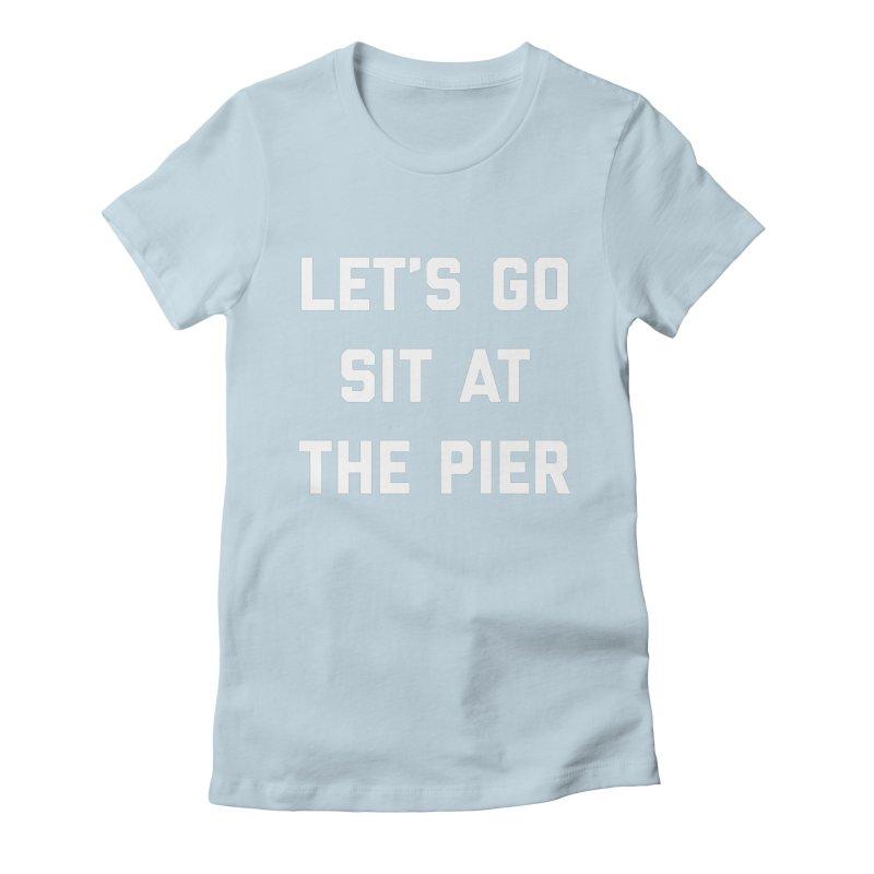 Jackson Street Pier Women's Fitted T-Shirt by Shop Sandusky Ink & Cloth