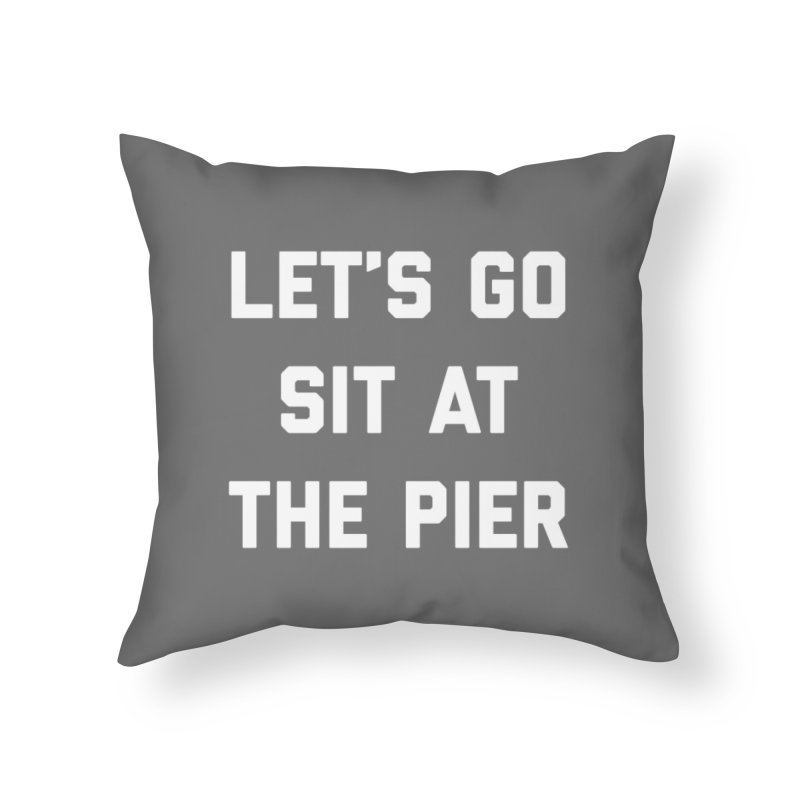 Jackson Street Pier Home Throw Pillow by Shop Sandusky Ink & Cloth