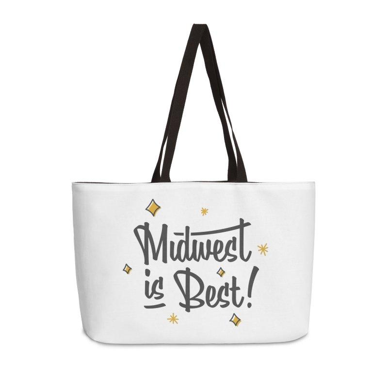 Midwest Is Best Accessories Weekender Bag Bag by Shop Sandusky Ink & Cloth
