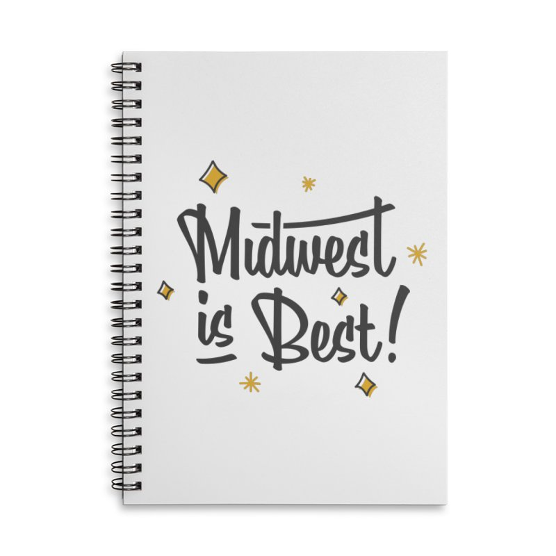 Midwest Is Best Accessories Lined Spiral Notebook by Shop Sandusky Ink & Cloth