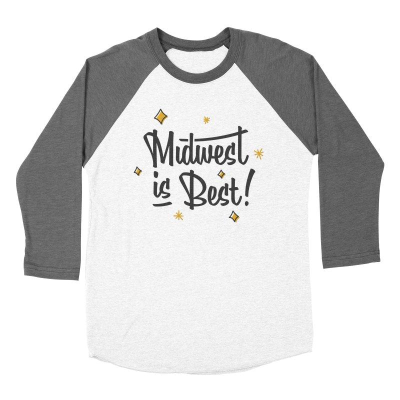 Midwest Is Best Men's Baseball Triblend Longsleeve T-Shirt by Shop Sandusky Ink & Cloth