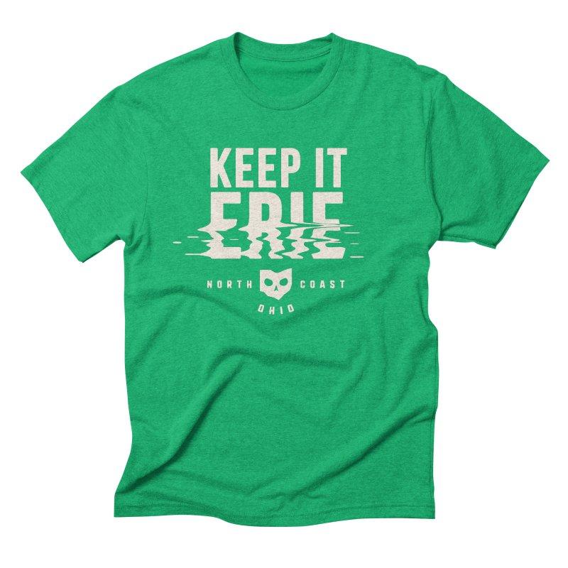 Keep It Erie in Men's Triblend T-Shirt Tri-Kelly by Shop Sandusky Ink & Cloth