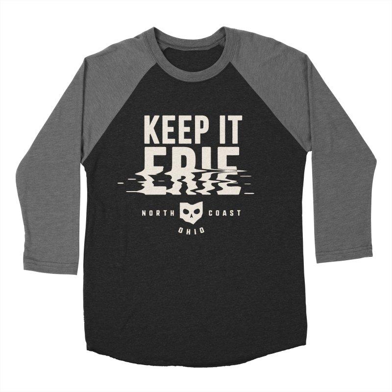 Keep It Erie Women's Baseball Triblend Longsleeve T-Shirt by Shop Sandusky Ink & Cloth