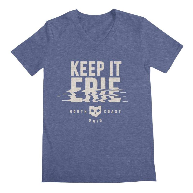 Keep It Erie Men's Regular V-Neck by Shop Sandusky Ink & Cloth