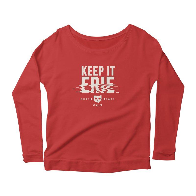 Keep It Erie Women's Scoop Neck Longsleeve T-Shirt by Shop Sandusky Ink & Cloth