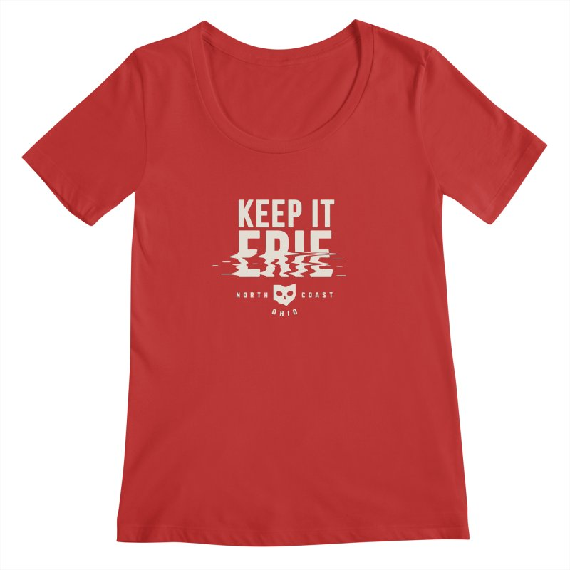 Keep It Erie Women's Regular Scoop Neck by Shop Sandusky Ink & Cloth