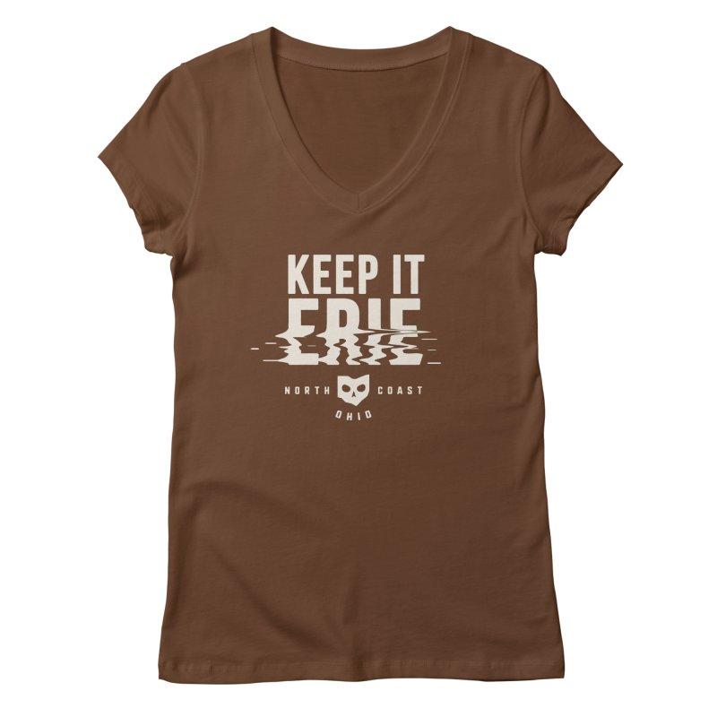 Keep It Erie Women's Regular V-Neck by Shop Sandusky Ink & Cloth