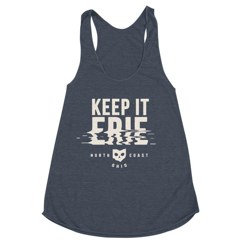 Keep It Erie Women's Racerback Triblend Tank by Shop Sandusky Ink & Cloth