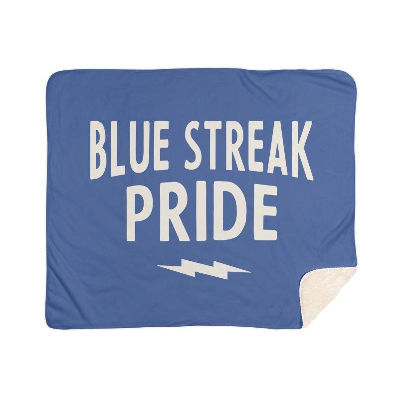 Blue Streak Pride Home Sherpa Blanket Blanket by Shop Sandusky Ink & Cloth