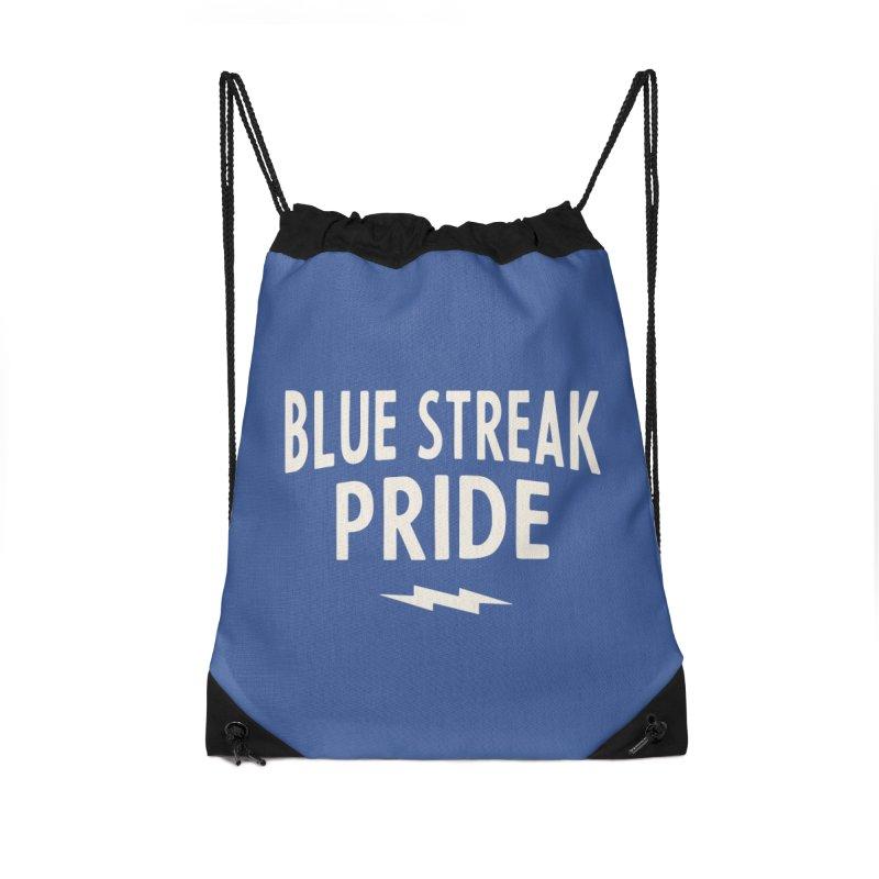 Blue Streak Pride Accessories Drawstring Bag Bag by Shop Sandusky Ink & Cloth