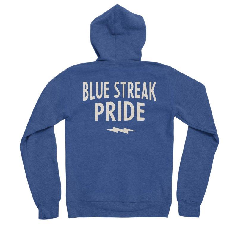 Blue Streak Pride Men's Sponge Fleece Zip-Up Hoody by Shop Sandusky Ink & Cloth