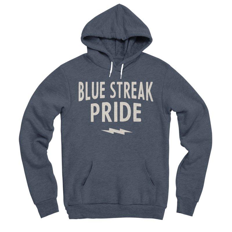 Blue Streak Pride Men's Sponge Fleece Pullover Hoody by Shop Sandusky Ink & Cloth
