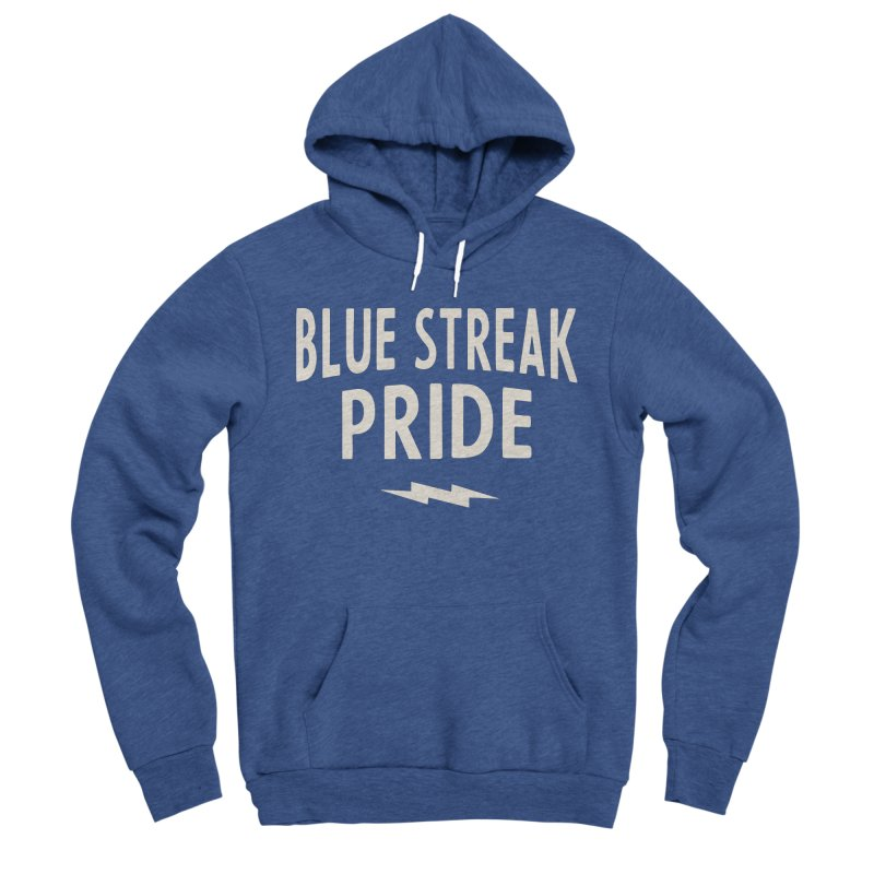 Blue Streak Pride Women's Sponge Fleece Pullover Hoody by Shop Sandusky Ink & Cloth