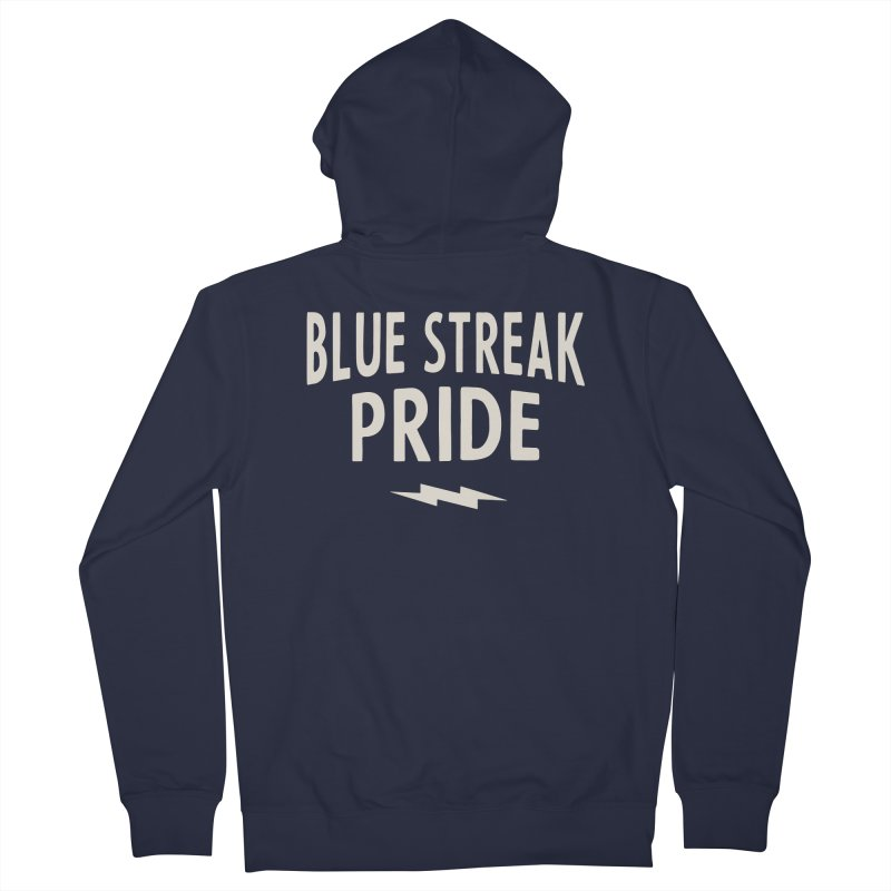 Blue Streak Pride Women's French Terry Zip-Up Hoody by Shop Sandusky Ink & Cloth