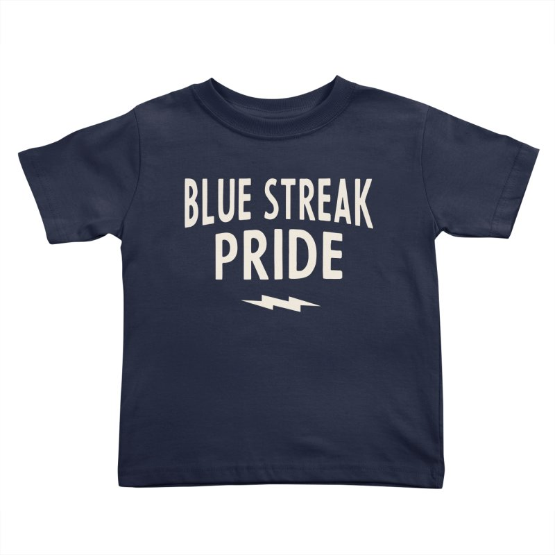 Blue Streak Pride Kids Toddler T-Shirt by Shop Sandusky Ink & Cloth