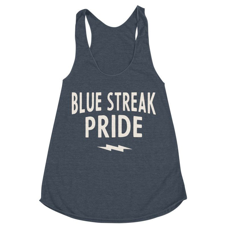 Blue Streak Pride Women's Racerback Triblend Tank by Shop Sandusky Ink & Cloth
